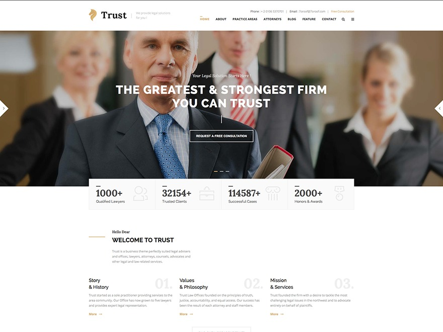 Theme WordPress WP Trust
