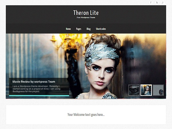 Theron Lite company WordPress theme
