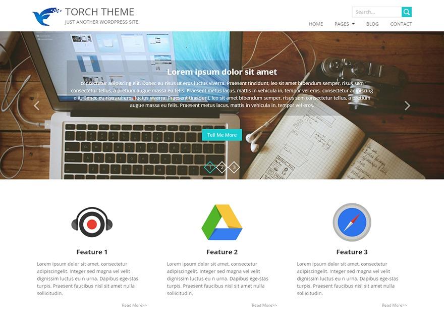 Torch personal blog WordPress theme