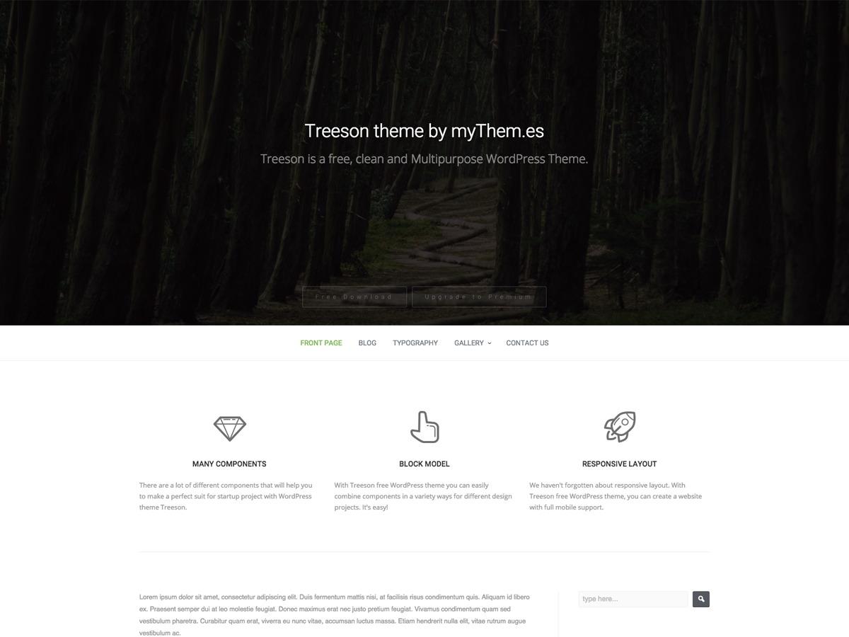 Treeson template WordPress free