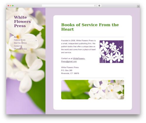 Twenty Fifteen best free WordPress theme - whiteflowerspress.com