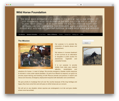 Free WordPress WP Header image slider and carousel plugin - wildhorsefoundation.net