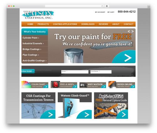 TwentyTen Five WordPress theme - watsoncoatings.com