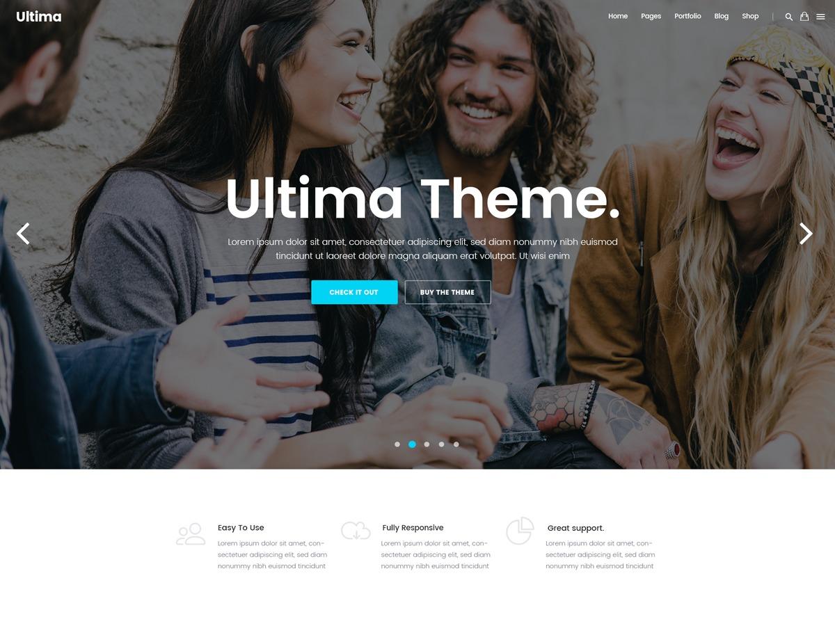Ultima WordPress theme design