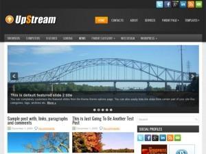 UpStream WordPress blog theme