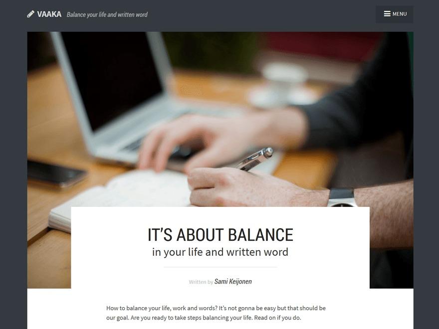 Vaaka WordPress theme