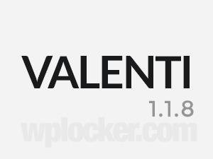 Valenti (shared on wplocker.com) WordPress theme