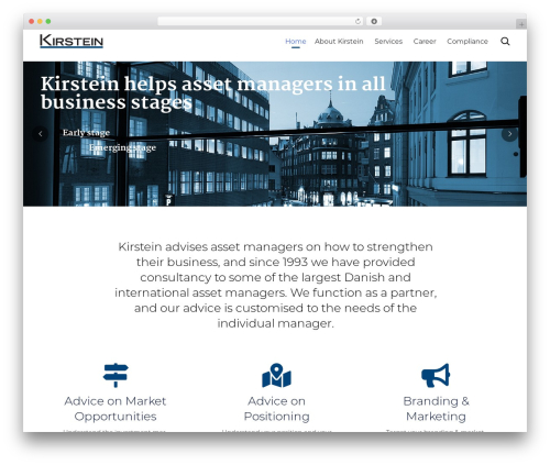 (VamTam) Consulting premium WordPress theme - kirstein.as