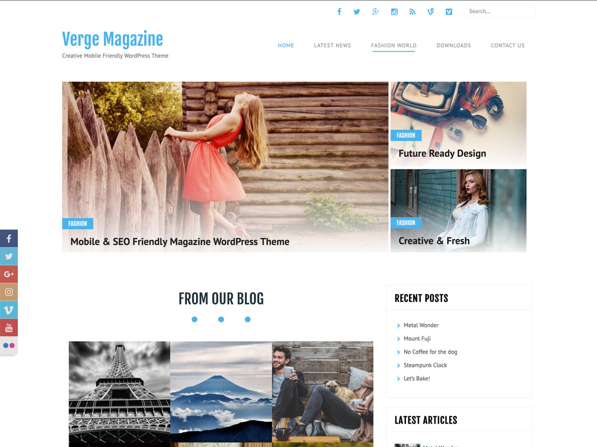 Verge WordPress theme image