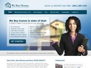 We Buy Homes Utah WordPress page template