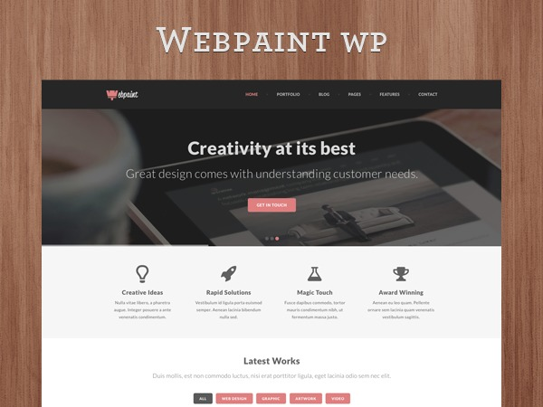 Webpaint - Responsive Multipurpose WordPress Theme best portfolio WordPress theme