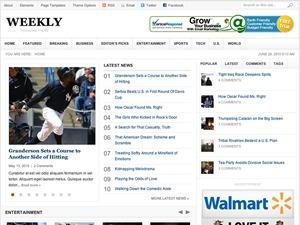 Weekly WordPress news theme