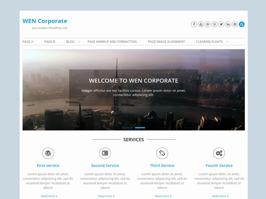 WEN Corporate free website theme