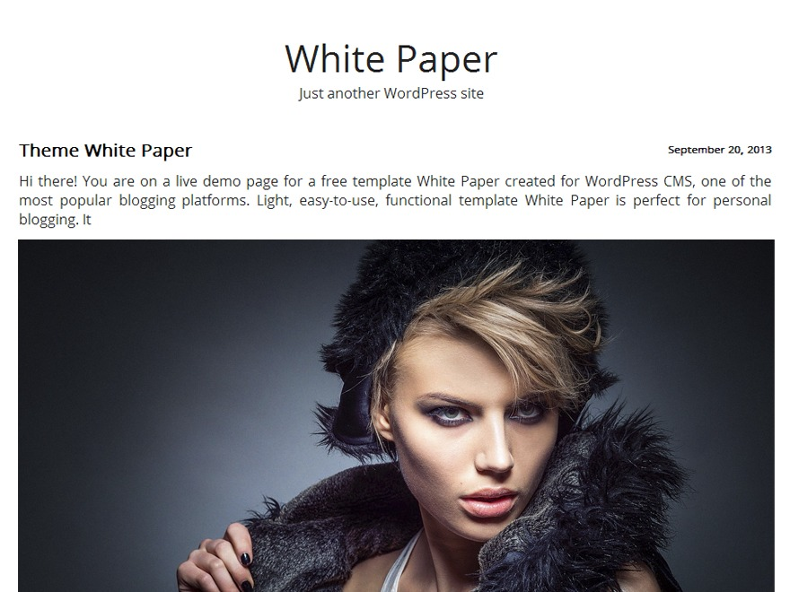 White Paper template WordPress free