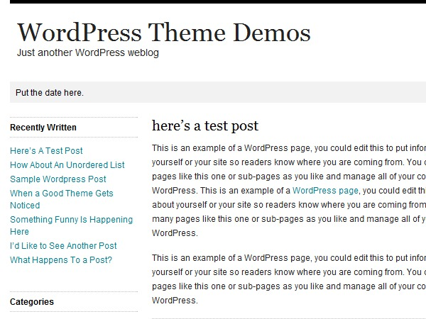 Whitespace WordPress website template