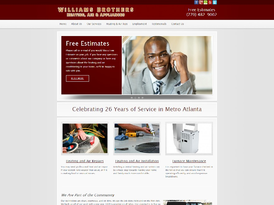 williams_tk WordPress website template