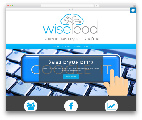 Wipi WordPress theme - wiselead.co.il