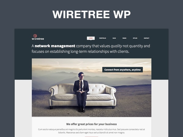 Wiretree company WordPress theme