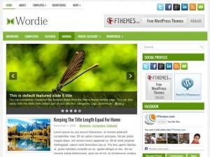 Wordie WordPress blog theme