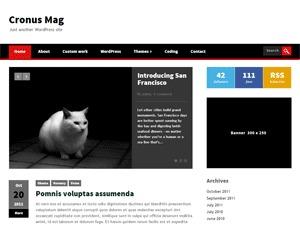 WordPress template CronusMag