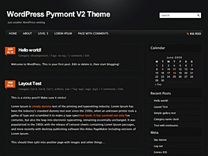 WordPress template Pyrmont V2