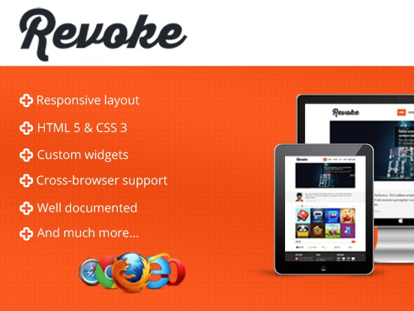 WordPress template Revoke