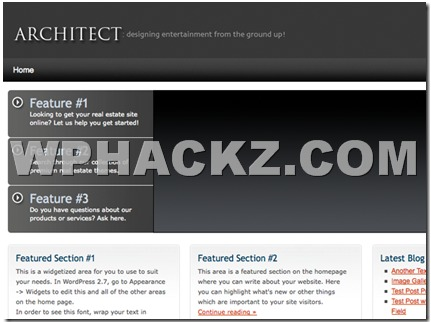 WordPress theme Architect Theme