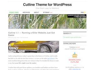 WordPress theme Cutline 1.4 (2-Column Right)