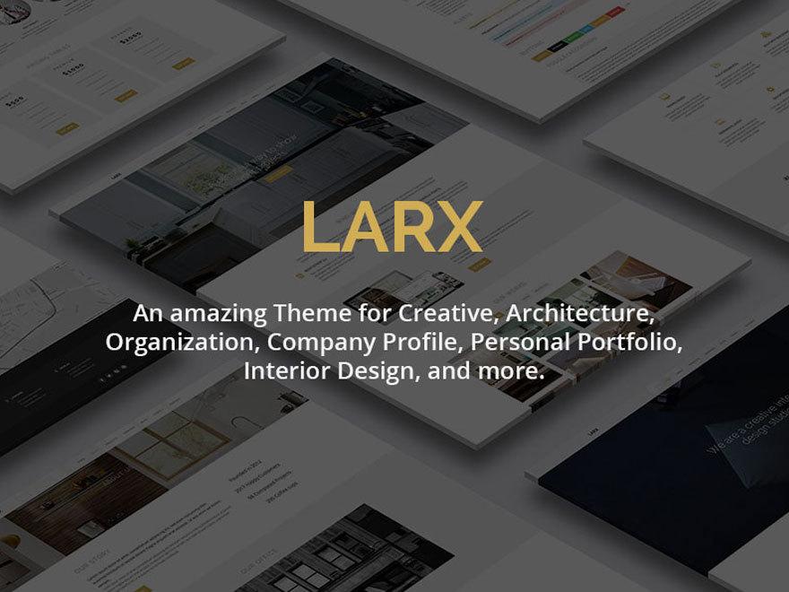 WordPress theme LARX
