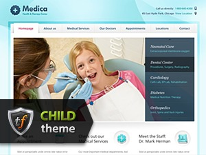WordPress theme Medica Child
