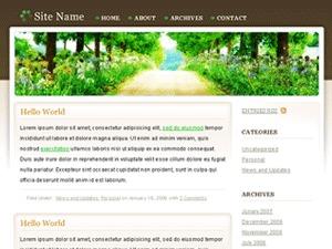 WordPress theme Peaceful Rush