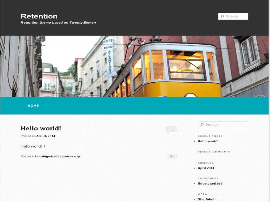 WordPress theme Retention