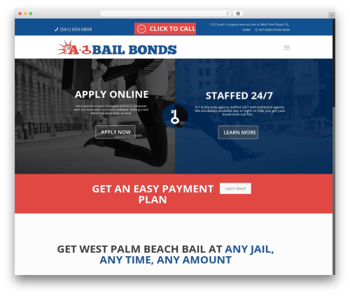 WordPress website template Betheme - westpalmbailbonds.com