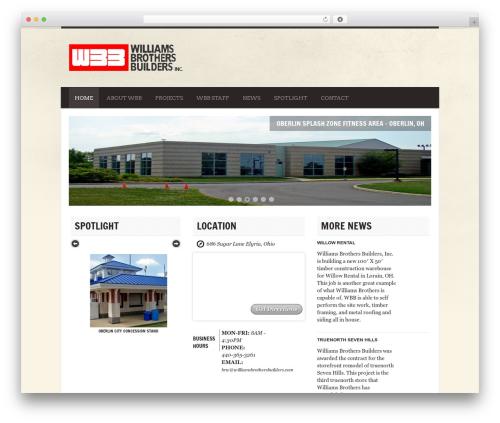 WordPress website template Diner - williamsbrothersbuilders.com