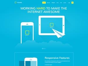 WordPress website template Square