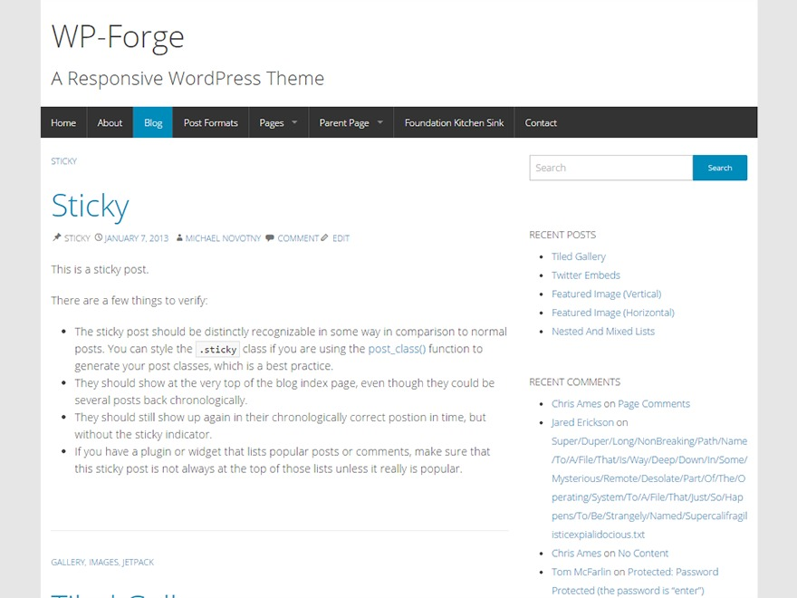 WP-Forge template WordPress free
