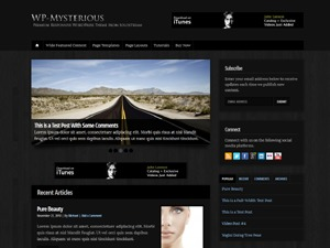 WP-Mysterious WordPress website template