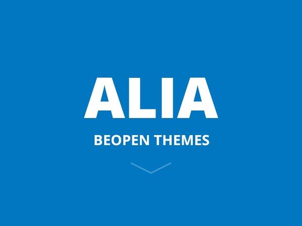 WP template Alia Theme