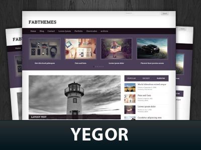 Yegor WordPress theme