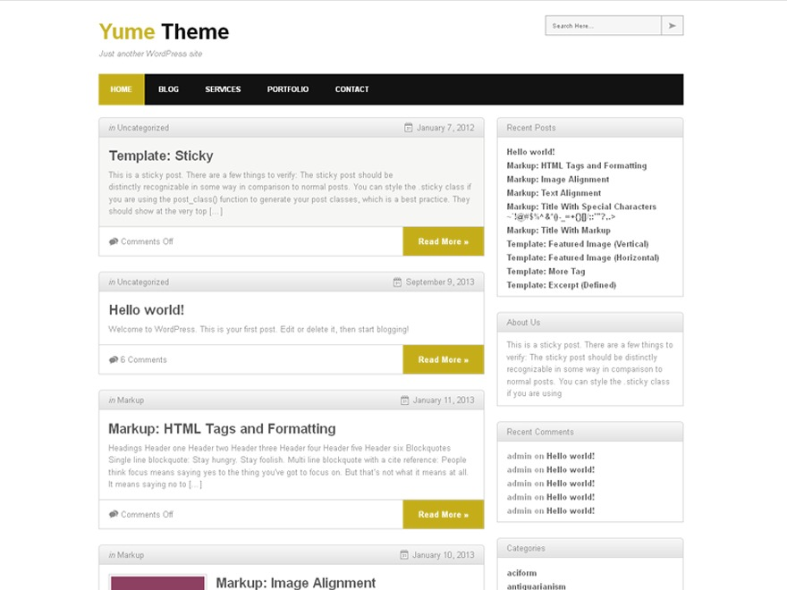 Yume Tan WordPress blog template