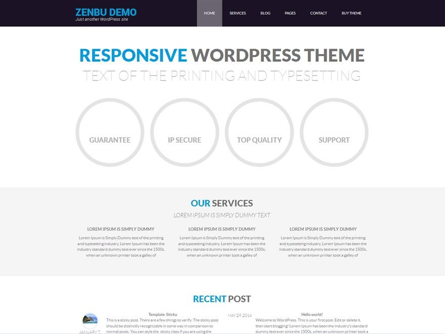 Zenbu company WordPress theme