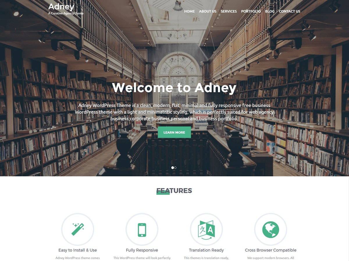 Adney best portfolio WordPress theme