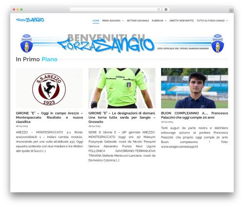 Avada premium WordPress theme - forzasangio.it/news