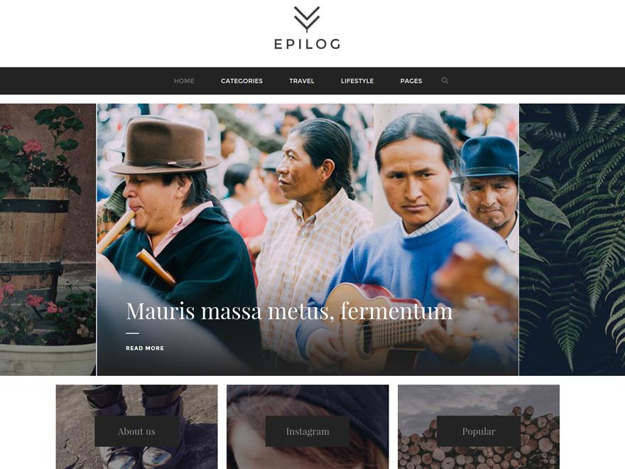 Best WordPress template Epilog