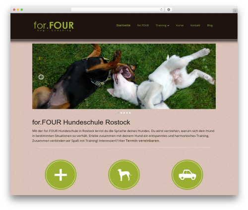 Best WordPress template Make - forfour-hundeschule.de