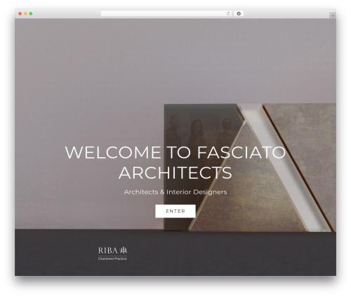 Best WordPress template Vika - fasciato.co.uk