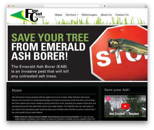 Best WordPress theme Gantry Theme for WordPress - finecutlawn.com