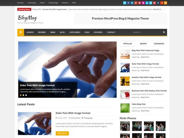 BlogMag Theme best WordPress magazine theme