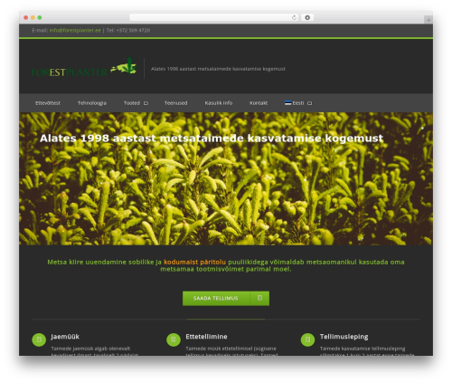 Clockwork WP WordPress theme design - forestplanter.eu