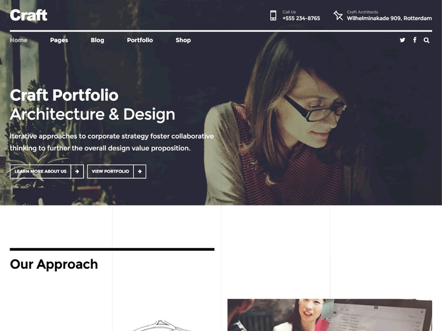 Craftportfolio WordPress portfolio template